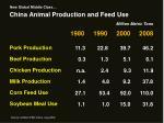 china animal production and feed use