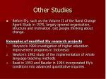 other studies