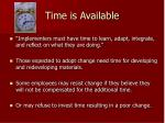 time is available