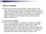 effects of salinity