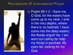 perceptions of unanswered prayer