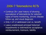 2006 7 telemedicine rcts