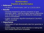bioinformatics practice of bioinformatics1