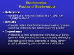bioinformatics practice of bioinformatics2