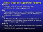 clinical decision support for patients