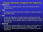 clinical decision support for patients2