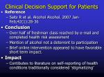 clinical decision support for patients4