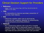 clinical decision support for providers2