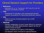 clinical decision support for providers7