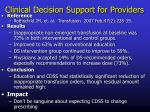 clinical decision support for providers8
