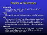 practice of informatics