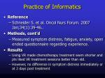 practice of informatics7