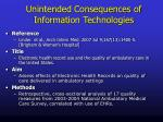 unintended consequences of information technologies