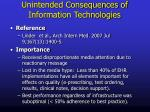 unintended consequences of information technologies2