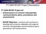 fy 2009 iecgp project descriptions2