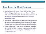 state laws on identifications