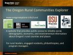 the oregon rural communities explorer