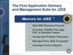 the first application delivery and management suite for j2ee