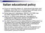 italian educational policy
