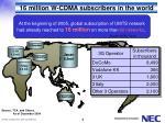 16 million w cdma subscribers in the world