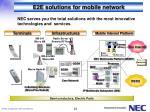 e2e solutions for mobile network