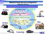 mobile fixed service integration seamless service