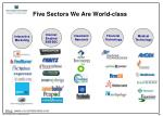 five sectors we are world class
