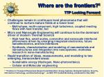 where are the frontiers 1 ttp looking forward