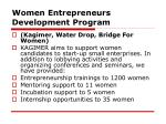 women entrepreneurs development program