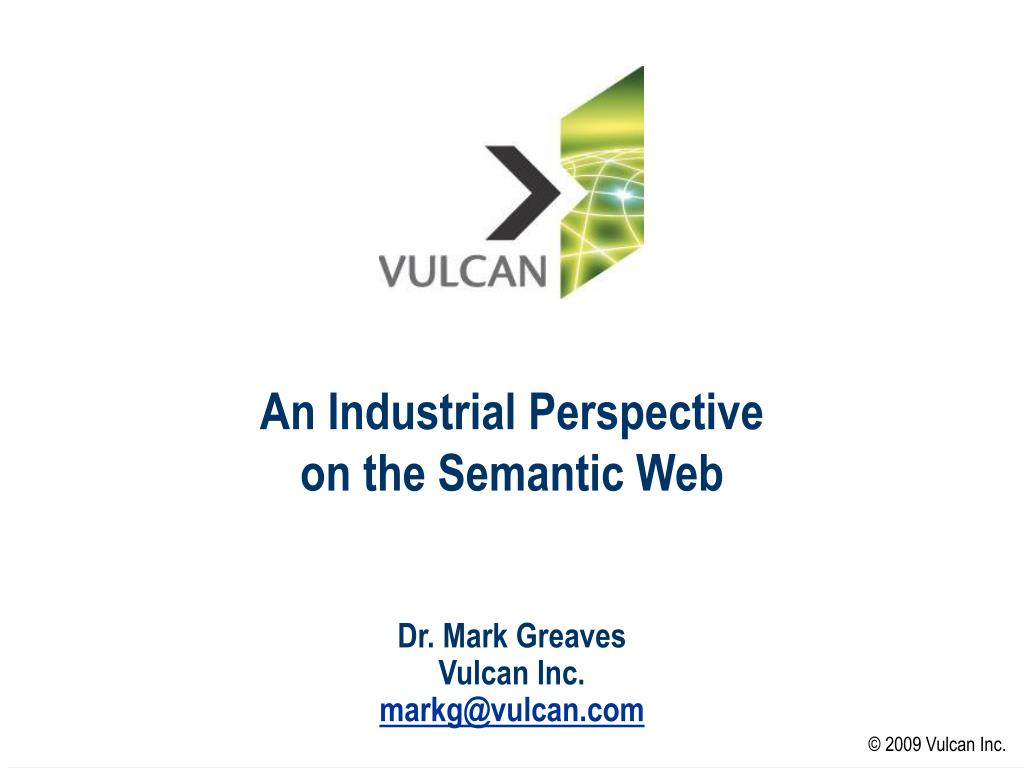 an industrial perspective on the semantic web l.