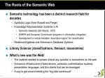 the roots of the semantic web