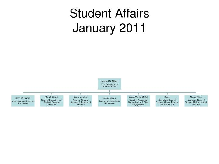 student affairs january 2011 n.