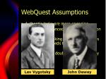 webquest assumptions