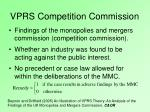 vprs competition commission