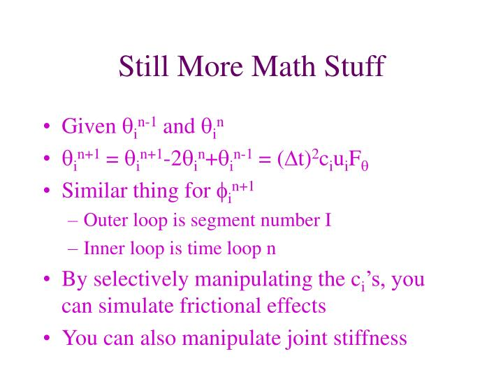 Still More Math Stuff