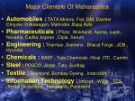 major clientele of maharashtra