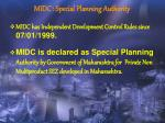 midc special planning authority