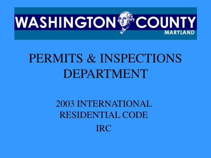 permits inspections department n.