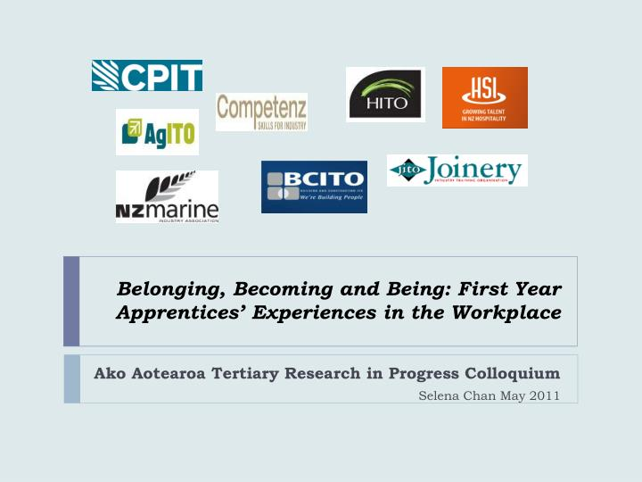 belonging becoming and being first year apprentices experiences in the workplace n.