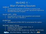 mcidas v main funding sources