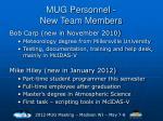 mug personnel new team members