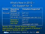 what s new in 2012 os support for x3