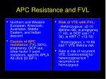 apc resistance and fvl