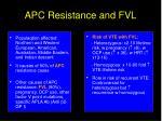 apc resistance and fvl1