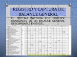 registro y captura de balance general