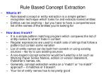 rule based concept extraction