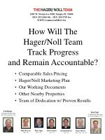 how will the hager noll team track progress and remain accountable