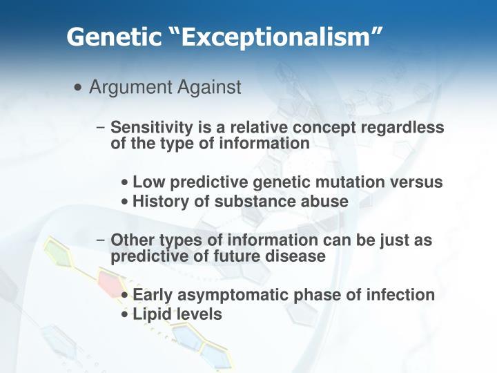 "Genetic ""Exceptionalism"""