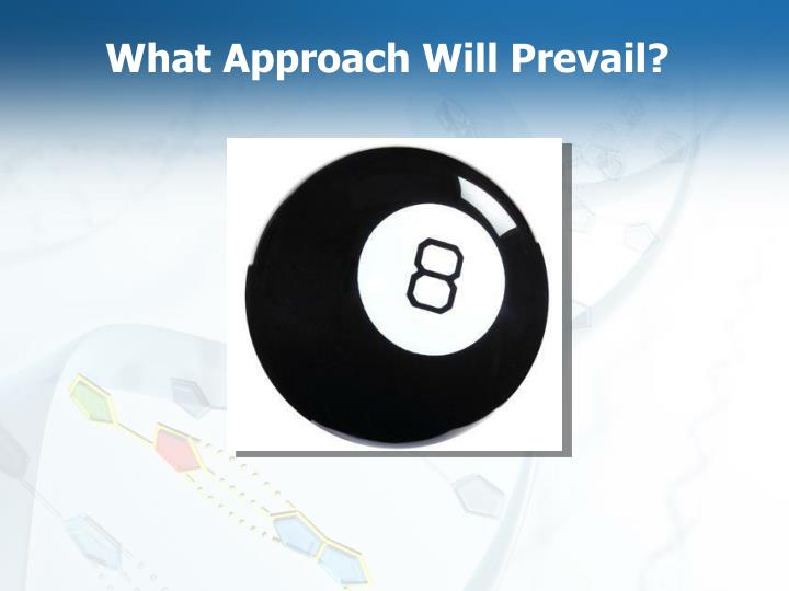 What Approach Will Prevail?