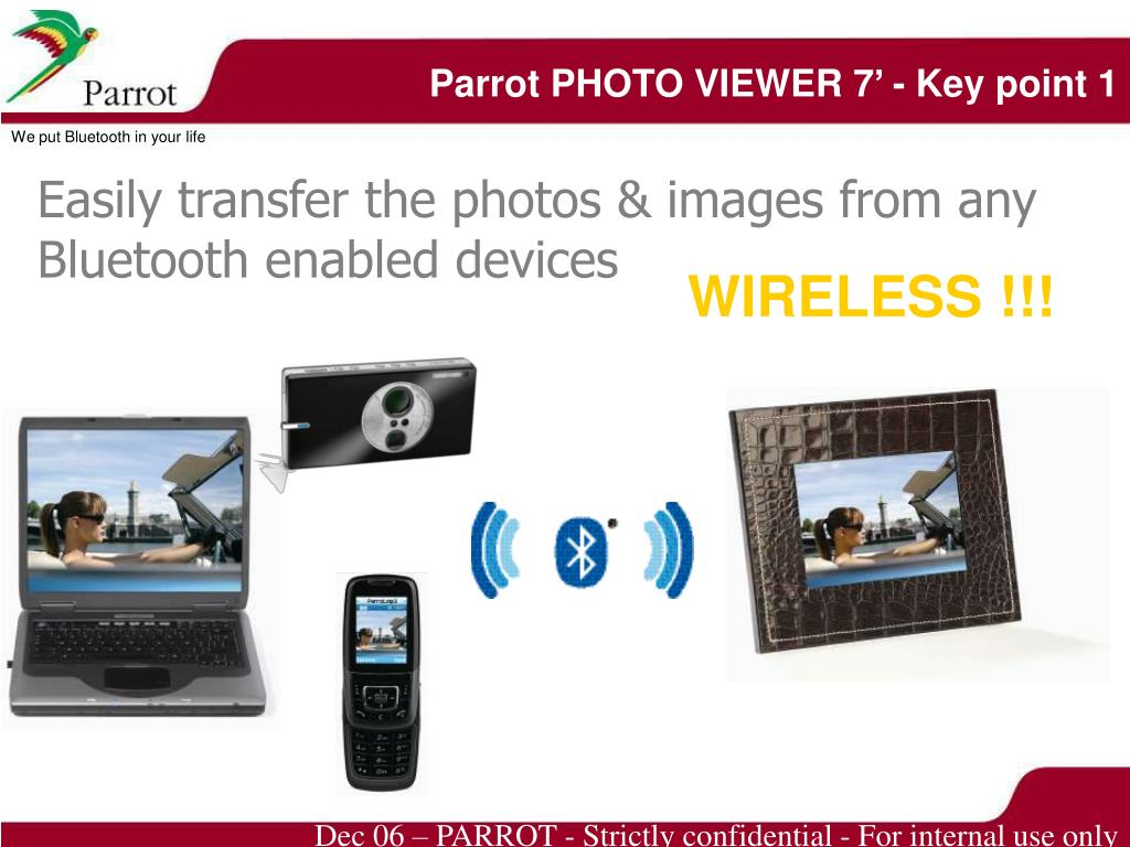 Parrot PHOTO VIEWER 7' - Key point 1